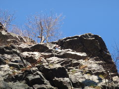 Rock Climbing Photo: Me at the first pitch belay station on a nice nove...
