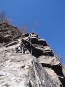 Rock Climbing Photo: The view of the second pitch after pulling the wel...