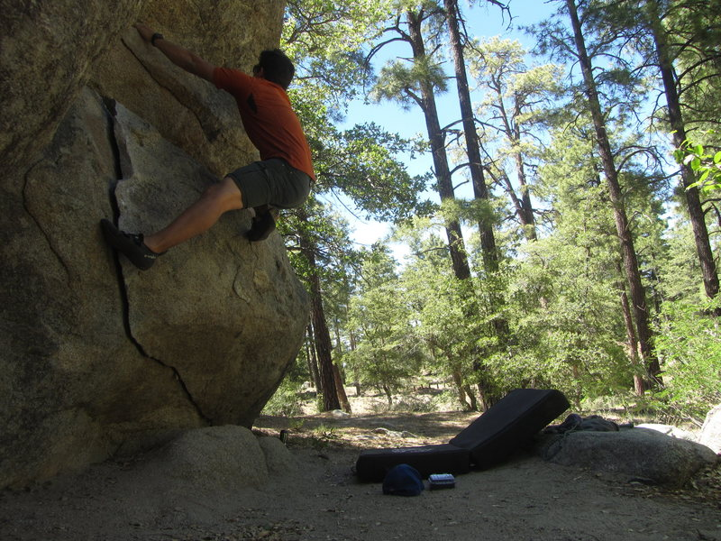 Rock Climbing Photo: Starting moves on Zorro