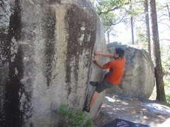Rock Climbing Photo: Ryan Myers on Helen's Lieback at Groom Creek