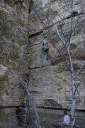 Rock Climbing Photo: Ben at the crux.