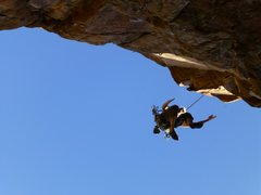 Rock Climbing Photo: A hold the size of two phone books broke off 70 fe...