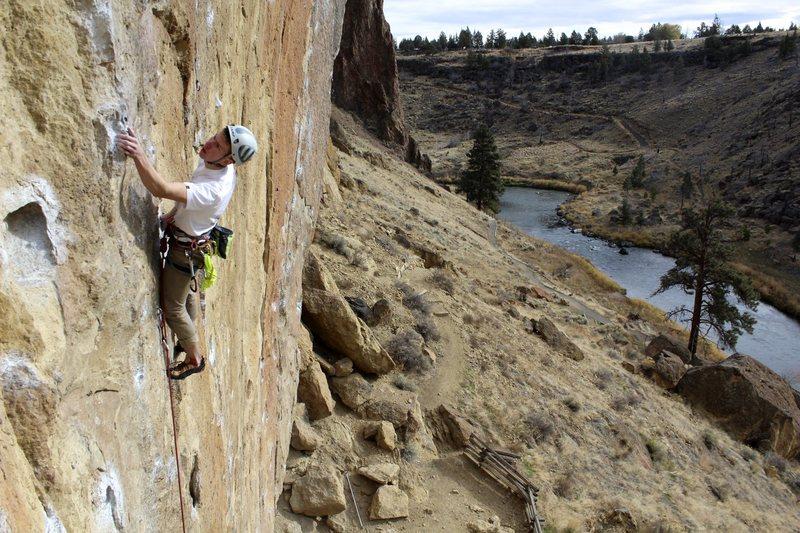 Rock Climbing Photo: Matt Clark working Cool Ranch Flavor