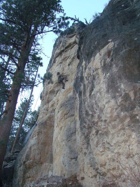 Rock Climbing Photo: Teddy battles Sloptimus Prime, 5.12a  Sloppy Secon...