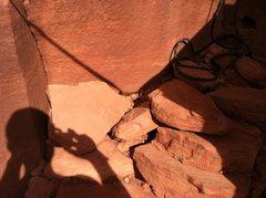 Rock Climbing Photo: Warm-Up Handcrack, Reservoir Wall