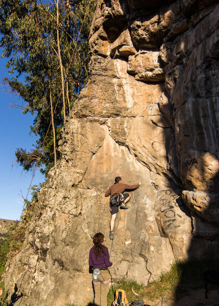 Rock Climbing Photo: heading up Tiro AL Blanco