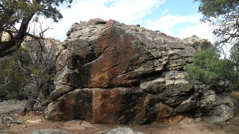 Rock Climbing Photo: Route beta for Boom Boom.