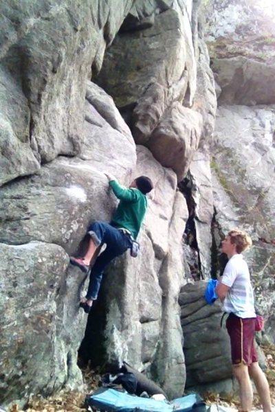 Rock Climbing Photo: Ben going for the gold.