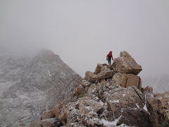 Rock Climbing Photo: Attempt on Blitzen Ridge on Ypsilon Mtn. RMNP. Nov...