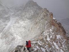Rock Climbing Photo: Attempt on Blitzen Ridge on Ypsilon Mtn. RMNP. Nov...