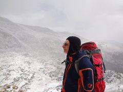 Rock Climbing Photo: Mike Colacino on an attempt on Blitzen Ridge on Yp...