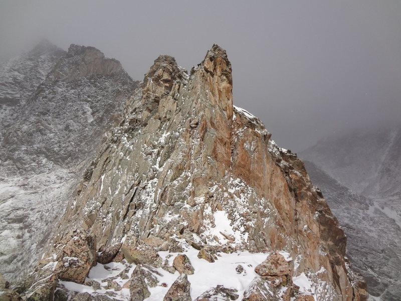 The Four Aces. Blitzen Ridge - Ypsilon Mtn. RMNP. November 18th 2012.