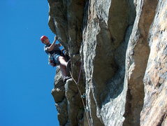Rock Climbing Photo: Arrow, the little overhang that starts pitch 2.  P...