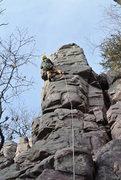 Rock Climbing Photo: Eric P. onsighting King's Throne.