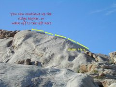 Rock Climbing Photo: Ridge Route, High Tanks at Tinajas Altas Mountains