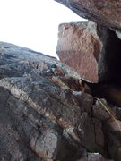 Rock Climbing Photo: Pitch 2: M5, very little ice.