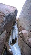 Rock Climbing Photo: Pitch 2: 120 ft, WI5+ M5+.