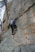 "Rock Climbing Photo: Rudy on the opening moves of ""Freaky Face&quo..."
