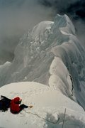 Rock Climbing Photo: Looking back on the NW ridge of Chopicalqui. Alan ...