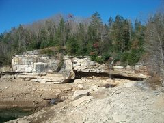 Rock Climbing Photo: Pirates' Cove in November when the water is down.