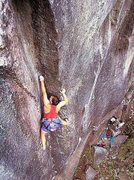 Rock Climbing Photo: Max Dufford on the FFA of Numbah Ten (5.12b), Inde...