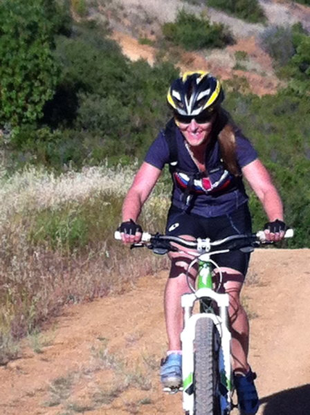 Mountain biking in California...