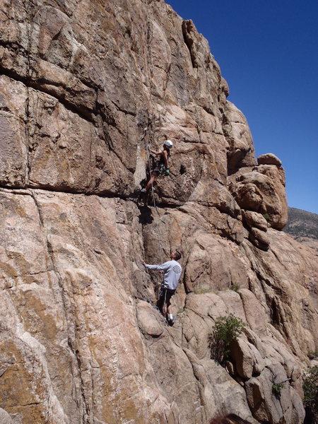 Lead climbing in Prescott