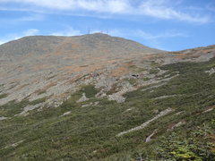 Rock Climbing Photo: Trail running Mt. Washington NH...midway to the to...