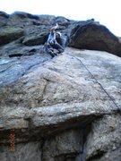 Rock Climbing Photo: JK leading Deuces Wild
