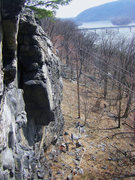 Rock Climbing Photo: Looking east from the top, left of Cold Steel Corn...