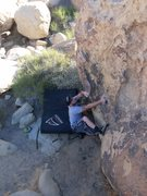 Rock Climbing Photo: Setting up the sit down start on one of my favorit...
