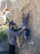 Rock Climbing Photo: Billy spoting his daughter, she insisted she be ab...