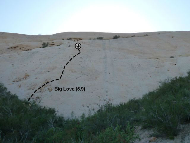 Rock Climbing Photo: Big Love (5.9), Mormon Slab