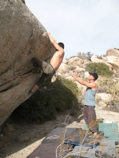 Bouldering near the Cottonwood Area, Culp Valley