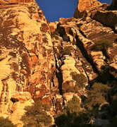 Rock Climbing Photo: Solar Slab Gulley - The obvious line to the left o...