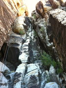 Rock Climbing Photo: Third Pitch - Solar Slab Gulley  5.3 climbing   Pi...