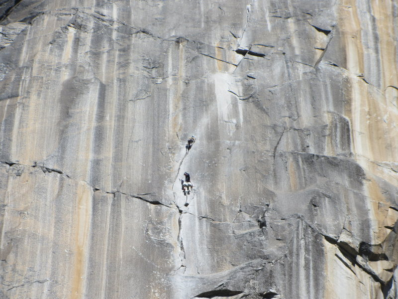 Unknown climbers on the Prow