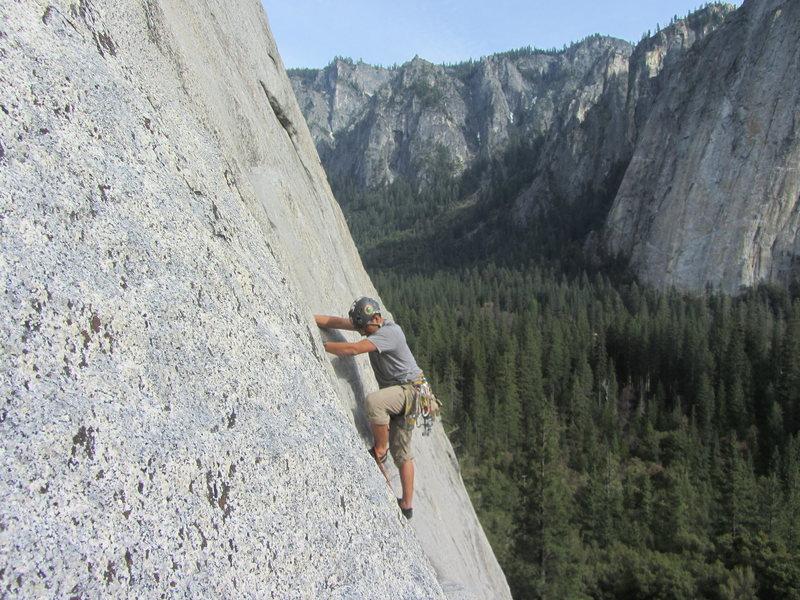 Rock Climbing Photo: RM on Pine Line