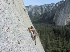 Rock Climbing Photo: RM on Pine Line