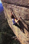 Rock Climbing Photo: Dan Michael on the FA of Hebe (5.14a), Mt. Lemmon ...