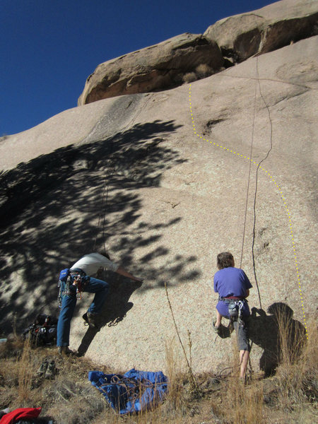 Rock Climbing Photo: Vaguely where I went, dotted in right of Mermaid. ...