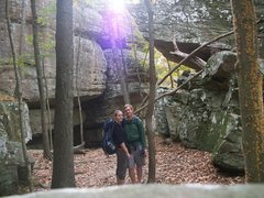 Rock Climbing Photo: Vanessa and I at Jackson Falls in Southern Illinoi...