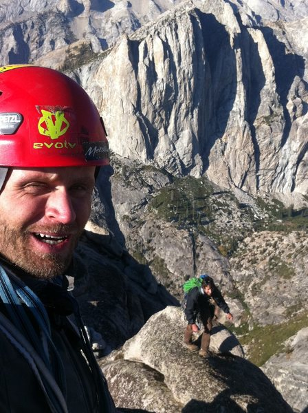 Rock Climbing Photo: topping out on Hamilton Dome with the Angel Wings ...