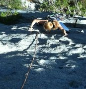 Rock Climbing Photo: Arc of a Biner 5.9 East Face Moro Rock