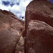 Rock Climbing Photo: Pocket Puzzle, Queen Creek