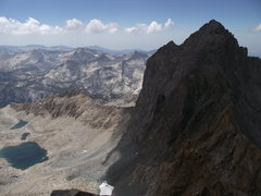 Rock Climbing Photo: Black Kaweah and the Great Western Divide from Pyr...