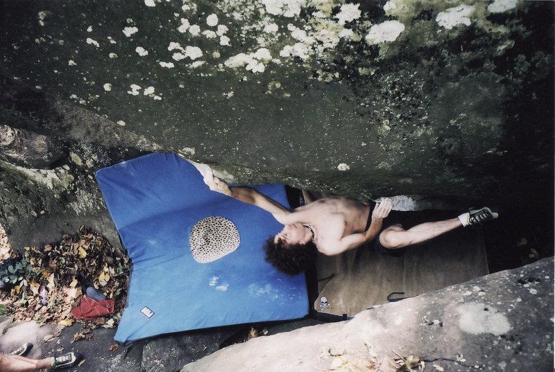 Rock Climbing Photo: Matthew Bashista completing the boulder problem Tr...