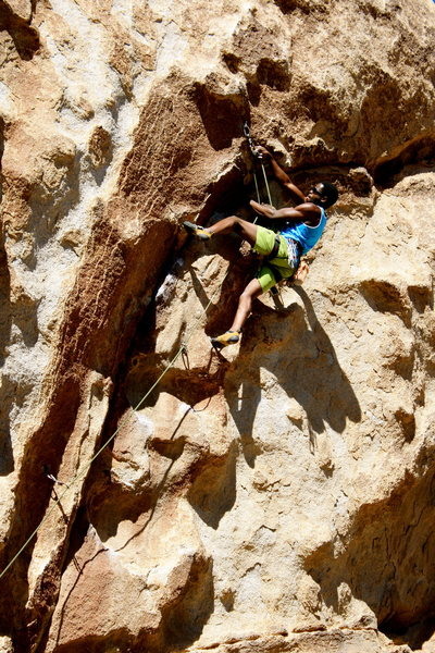 Rock Climbing Photo: Ending the easy moves with this clip, now comes th...