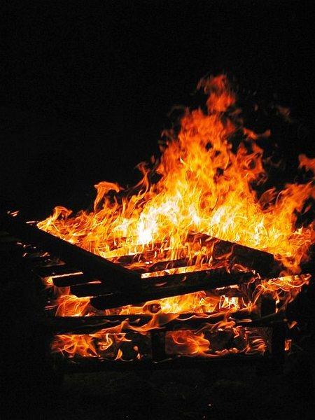 Campfire in the Alabama Hills, Sierra Eastside
