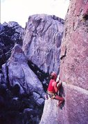 Rock Climbing Photo: Todd Skinner on Strategic Defense (5.11c), City of...